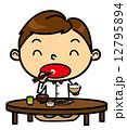 SD男性 食事 和食 12795894