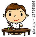 SD男性 食事 和食 12795896