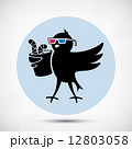 Bird with 3D Glasses 12803058