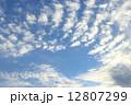 秋の雲 空 青空の写真 12807299