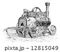 Agricultural Traction Engine, vintage engraving 12815049