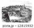 Chaudiere river Falls,in Quebec, Canada vintage engraving 12815932