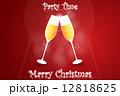 クリスマス ベクター 乾杯のイラスト 12818625