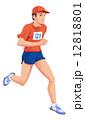 ランニング 走る イラストのイラスト 12818801