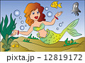 水 ベクトル マーメイドのイラスト 12819172