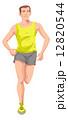 ランニング 走る 男性のイラスト 12820544