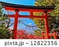 富士 富士山 鳥居の写真 12822356