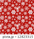 Different modern snowflakes on red background seamless pattern 12823315