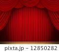 緞帳 ステージカーテン ステージのイラスト 12850282