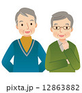 お爺さん 高齢者 人物のイラスト 12863882
