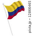 国旗 コロンビア ベクターのイラスト 12866465