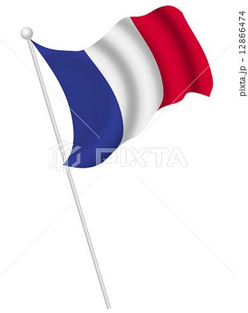 フランス 国旗 国 旗 のイラスト素材 12866474 Pixta