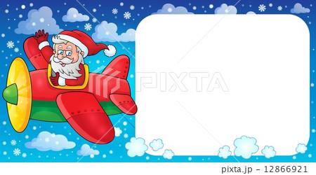 Santa Claus in plane theme image 2のイラスト素材 [12866921] - PIXTA