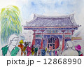 浅草 雷門のスケッチ 12868990