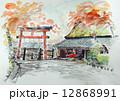 京都・鳥居本のスケッチ 12868991
