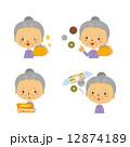 おばあさん ベクター 財布のイラスト 12874189