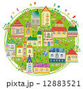 地図 街 建物のイラスト 12883521