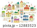 住宅 街 建物のイラスト 12883523