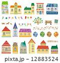 町並み 家 建物のイラスト 12883524