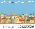 住宅 街 建物のイラスト 12883526