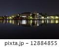 夜桜 高松の池 ライトアップの写真 12884855