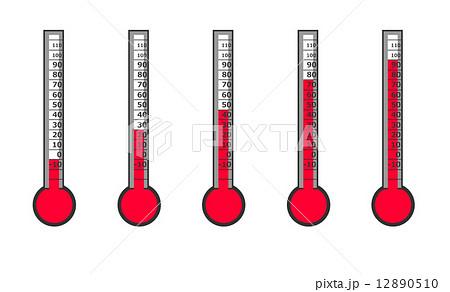 温度計のイラスト素材 [12890510...