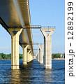 Bridge on the river Volga, Russia 12892199