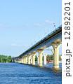 Bridge on the river Volga, Russia 12892201