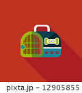 Pet dog travel cage flat icon with long shadow,eps10 12905855