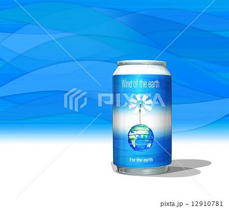 アルミ缶・スチール缶飲料と地球の風車 12910781