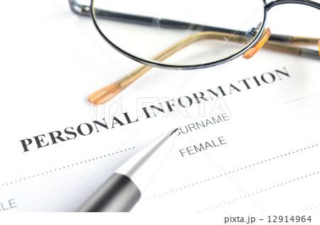 personal information formの写真素材 12914964 pixta