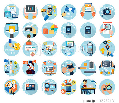 Icons set for business presenteshion 12932131