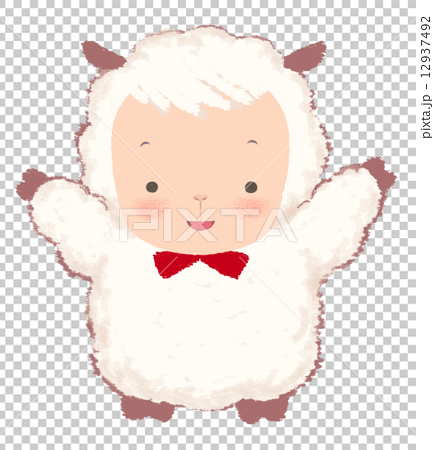 戴著絲帶的羊 12937492