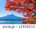 河口湖 自然風景 富士山の写真 12938313