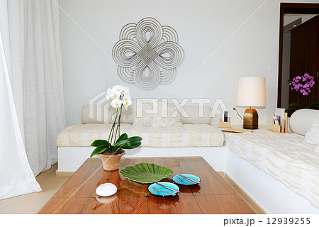 Interior of the luxury villa, Crete, Greeceの写真素材 [12939255] - PIXTA