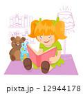 Girl reading book 12944178