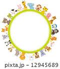 動物 円形フレーム 12945689