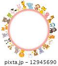 動物 円形フレーム 12945690
