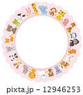 動物 円形フレーム 12946253