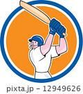 バット 打者 漫画のイラスト 12949626