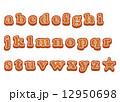 クッキー 小文字 フォントのイラスト 12950698