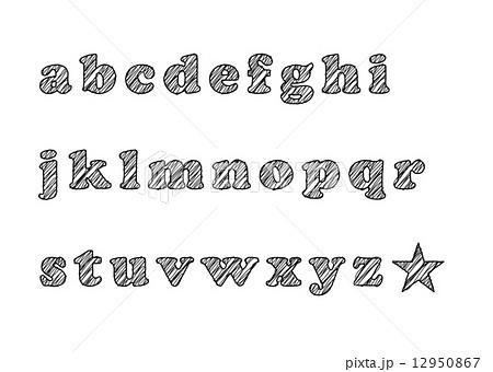 手書き風フォント abc 12950867