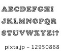 手書き風フォント ABC 12950868