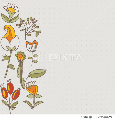 Flower border, seamless texture with flowers. Use as greeting cardのイラスト素材 [12958829] - PIXTA