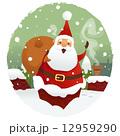 サンタ サンタクロース ギフトのイラスト 12959290