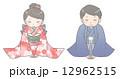 和服 挨拶 着物のイラスト 12962515