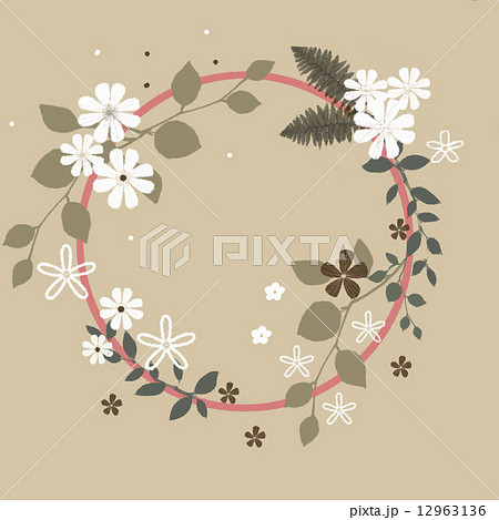 花リース イラストのイラスト素材 12963136 Pixta