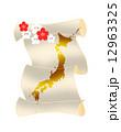 日本地図と梅 12963325
