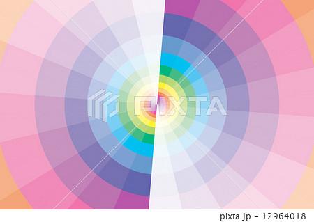 背景素材壁紙 虹色の円と風車 虹 カラフル 背景 壁紙 販売促進 チラシ