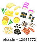 数の子 昆布巻き 食べ物のイラスト 12965772